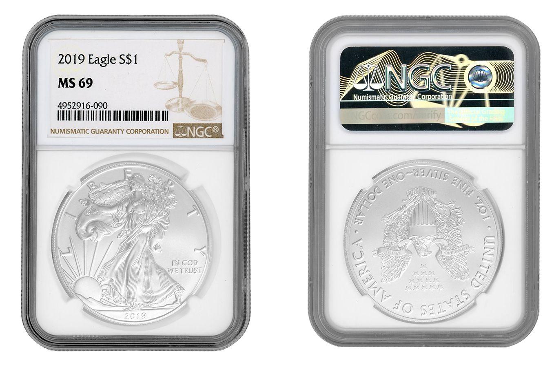 2019 Silver 1 oz American Eagle BU
