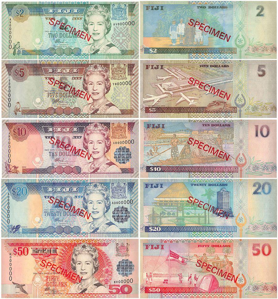 Fiji Banknote P104-108 Full QE II  set 2-5-10-20-50 Dollars UNC  We Combine