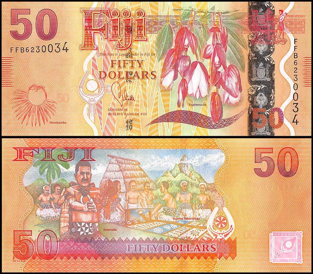 P-118 Unc 2013 Fiji 50 Dollars 2012