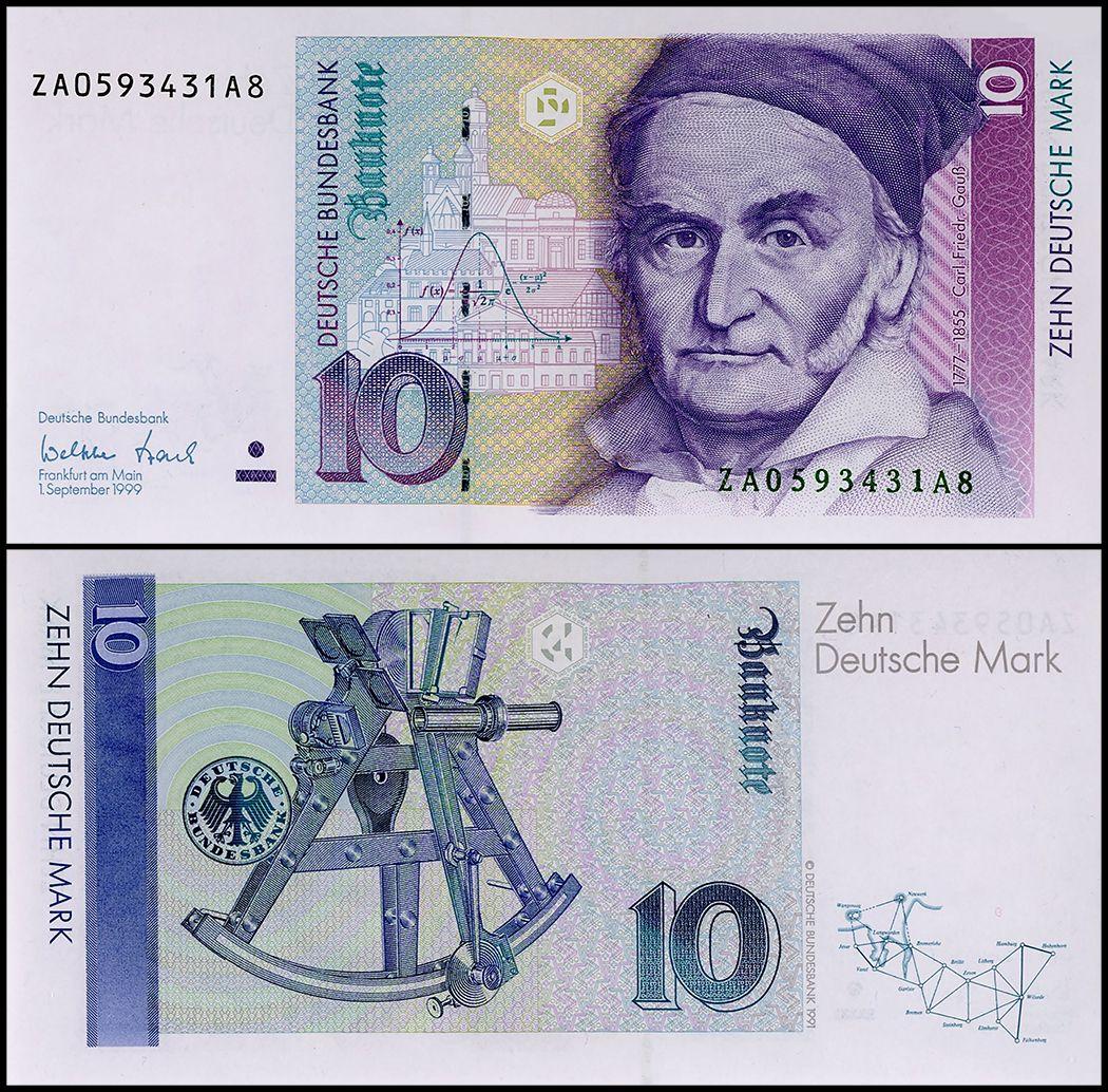 Germany 10 Deutsche Mark 1999 P 38d Replacement Unc