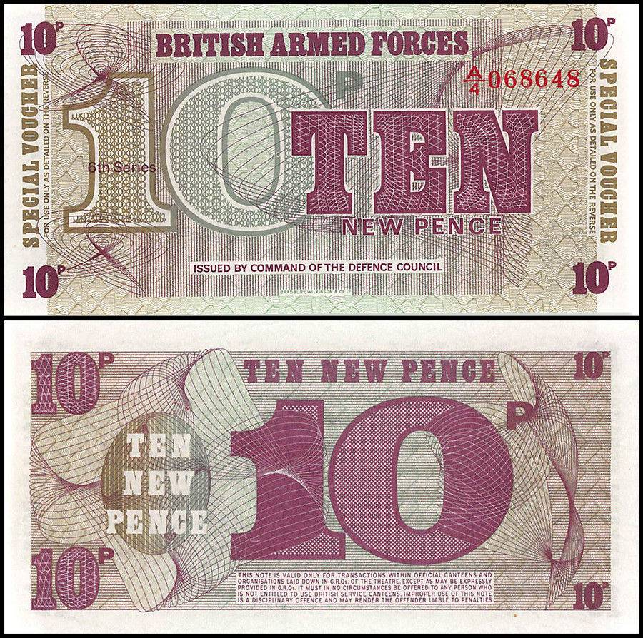 GREAT BRITAIN 10 NEW PENCE 1972 B.A.F P M48  LOT 2 Notes  Uncirculated