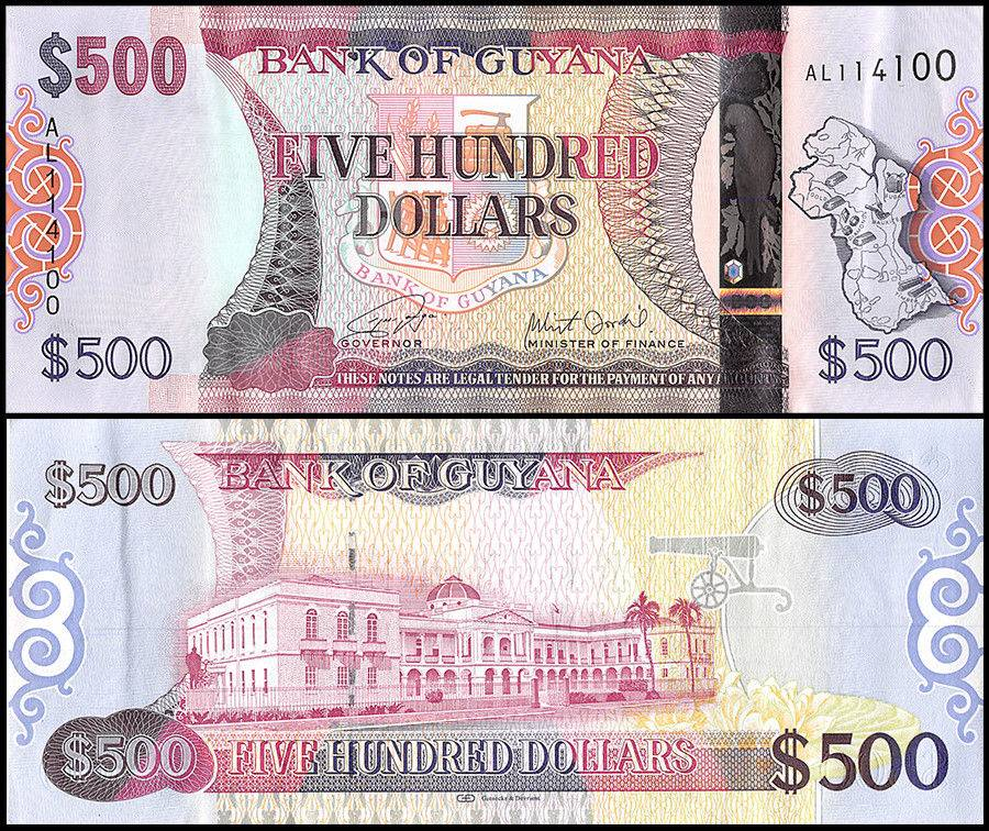1992 P-21g Waterfall Banknote Uncirculated Unc Details about  /Guayana 1 Dollar x 25 Pcs Bundle