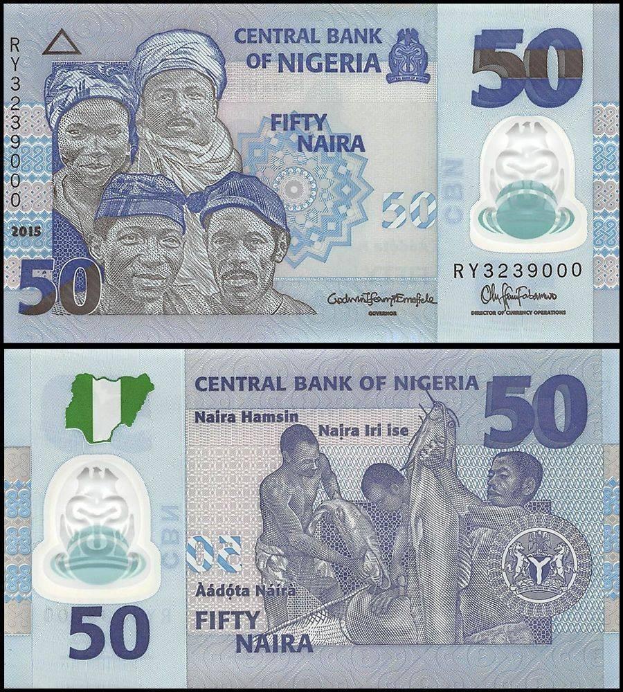 Nigeria 50 Naira 2017 P 40e Unc