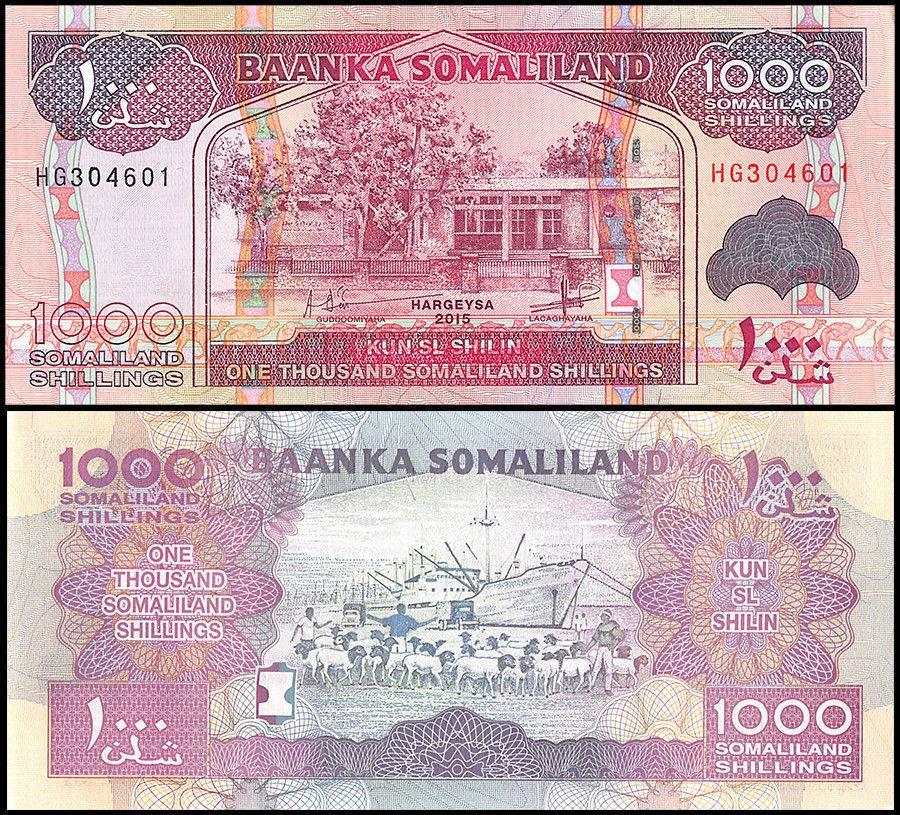 Somaliland 1000 Shillings 2015 P-20d Banknotes UNC