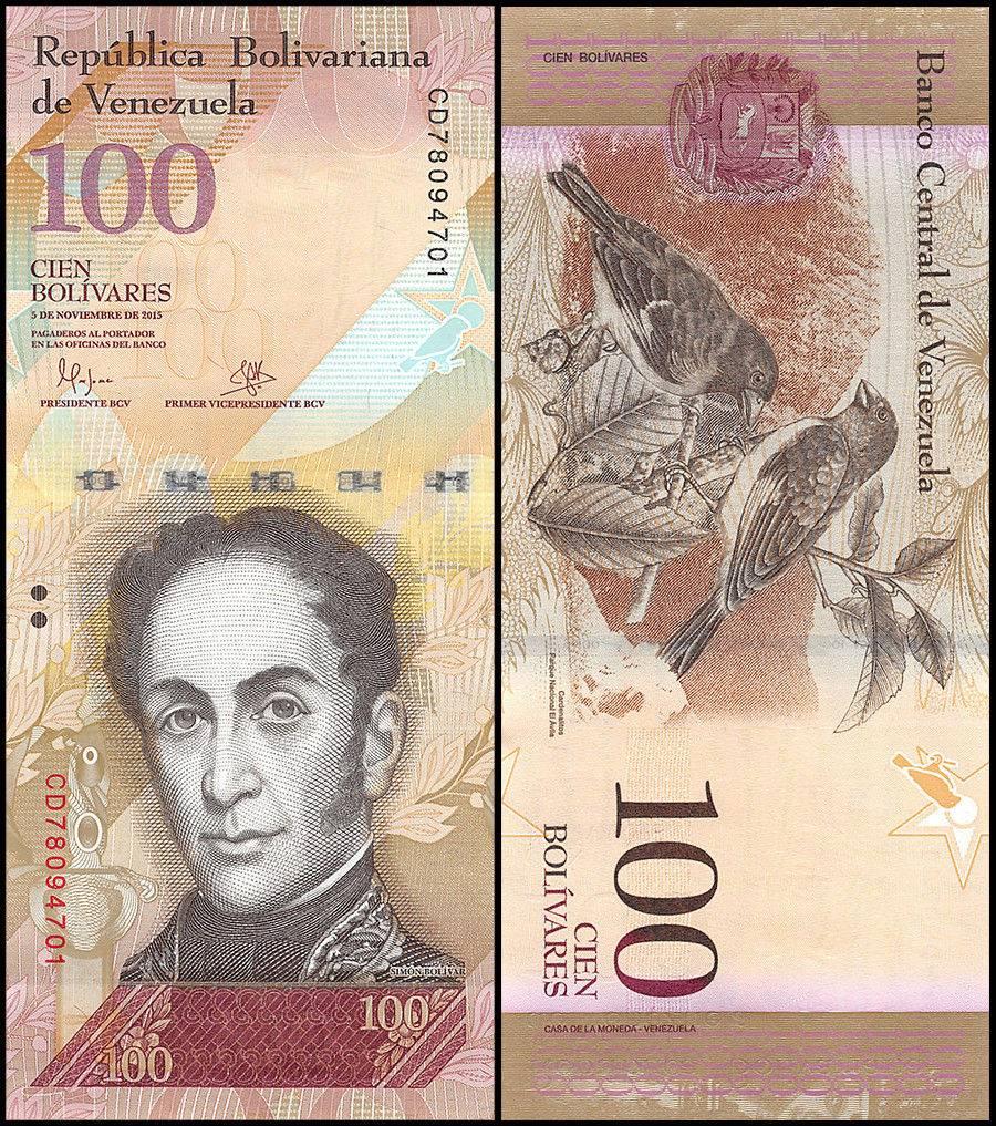 VENEZUELA 100 BOLIVARES 2008 p 93b UNC 24460