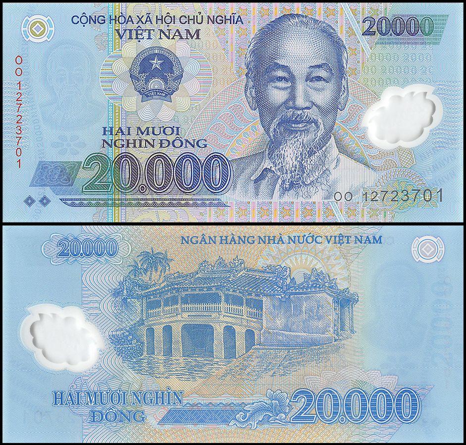 Paper Money Bills in Uncirculated UNC 500, 1000, 2000 Dong Vietnam Lot of 3