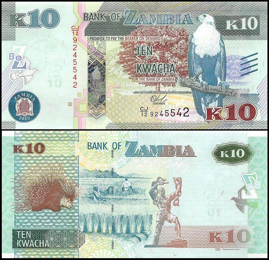 Zambia 2 Kwacha p-56 2018 UNC Banknote