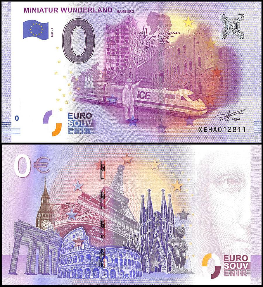 Zero  0  Euro Europe  2017  Unc  Miniatur Wunderland In Germany