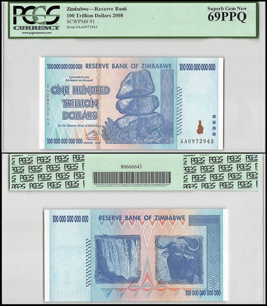 2008 P 91 Unc Pcgs 69 Ppq