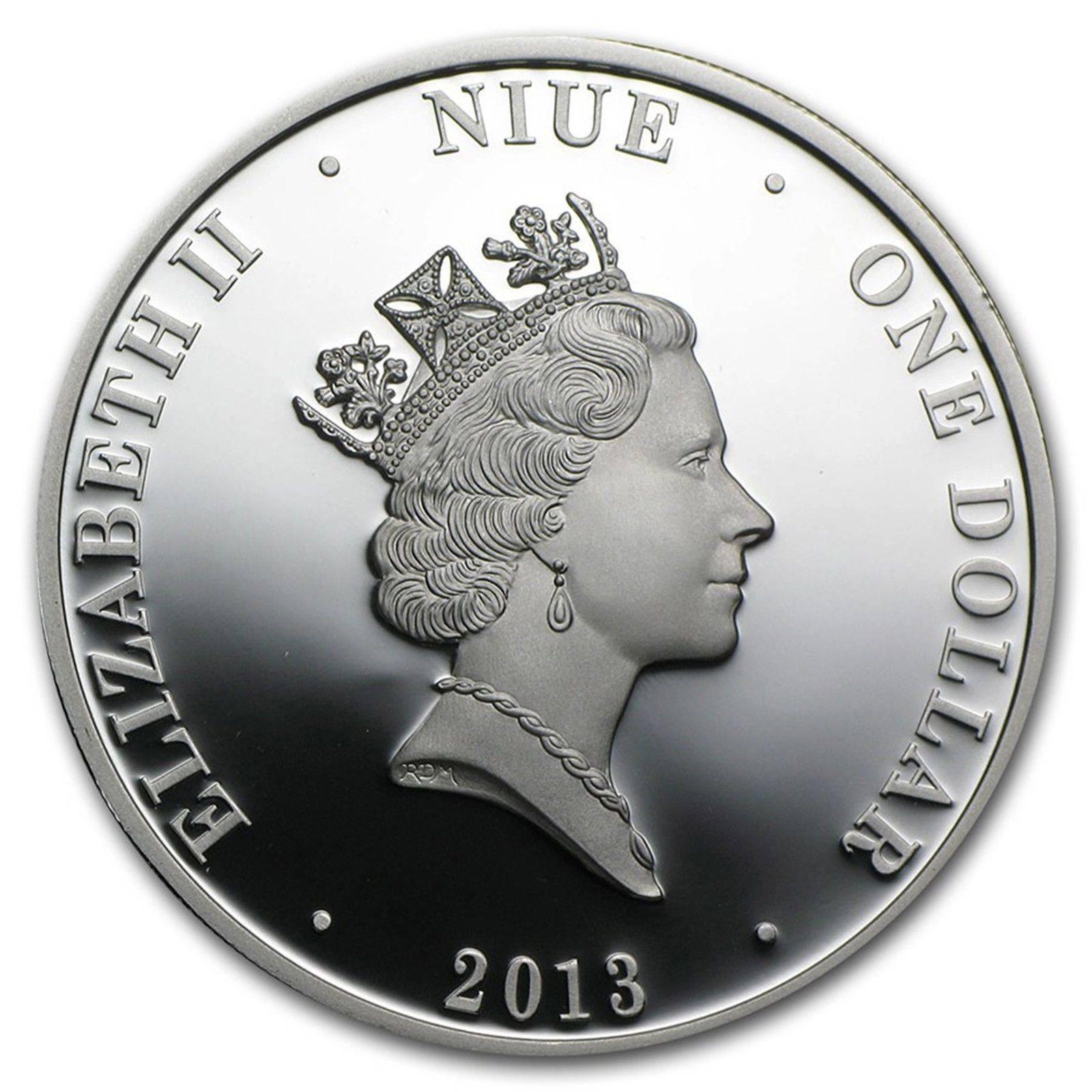 Australia Niue 1 Dollar Silver Proof Coin 2013 Oil