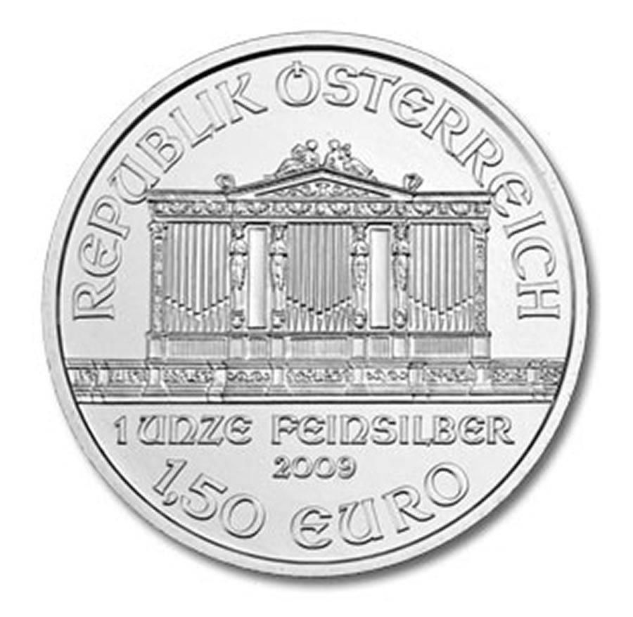 Austria 1 50 Euro, 31 g Silver Coin, 2009, KM # 3159, Mint, Vienna  Philharmonic