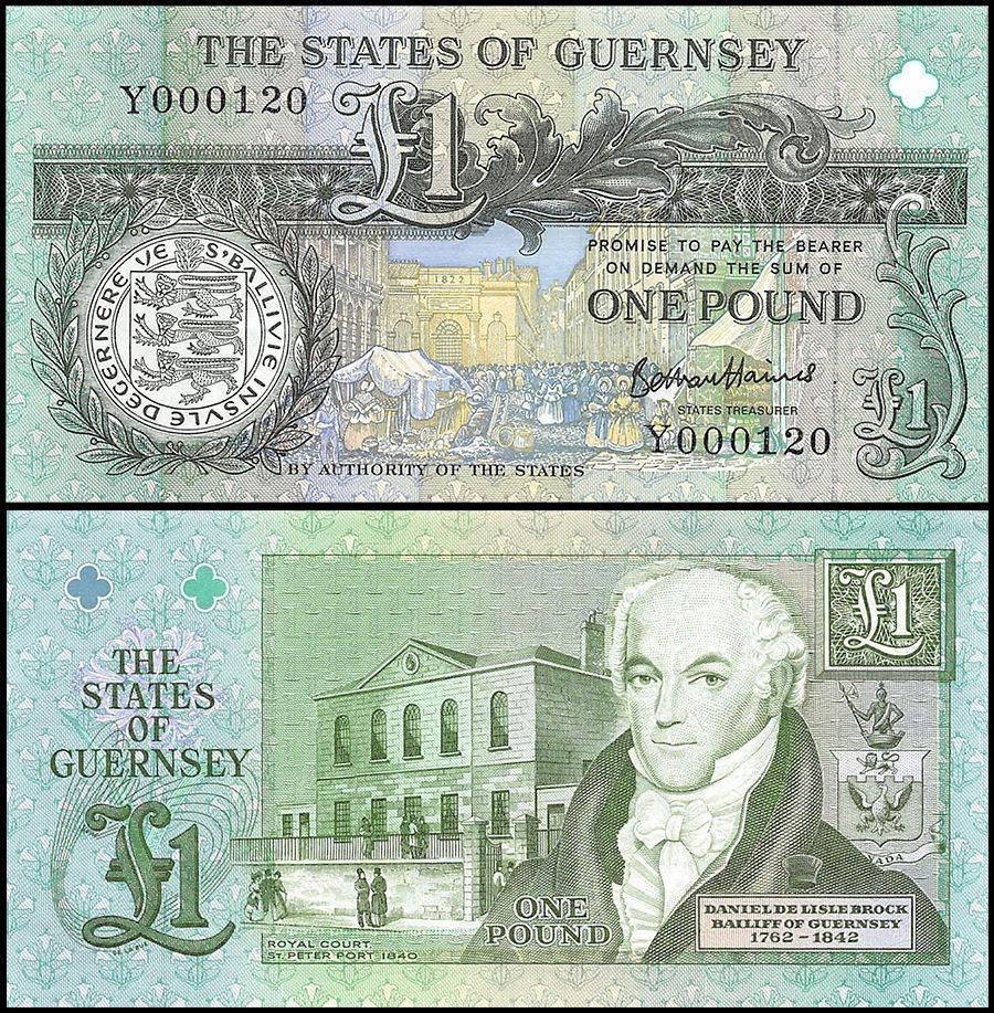 Guernsey 1 Pound Banknote, 1991, P-52d, UNC