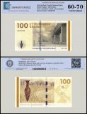 Denmark 100 Kroner Banknote, 2010, P-66b, UNC, TAP 60 - 70 Authenticated