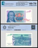 Yugoslavia 5,000 Dinara Banknote, 1994, P-141a, UNC, TAP 60 - 70 Authenticated