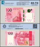 Hong Kong 100 Dollars Banknote, 2018, P-NEW, UNC, TAP 60 - 70 Authenticated