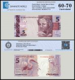 Brazil 5 Reais Banknote, 2010, P-253a, UNC, TAP Authenticated