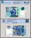 Hong Kong 20 Dollars Banknote, 2018, P-NEW, UNC, TAP 60 - 70 Authenticated