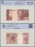 Brazil 10 Reais Banknote, 2012, P-254a, UNC, TAP Authenticated