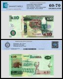 Zambia 10 Kwacha Banknote, 2012, P-51a, UNC, TAP 60 - 70 Authenticated