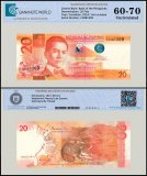 Philippines 20 Piso Banknote, 2014, P-206, UNC, TAP Authenticated