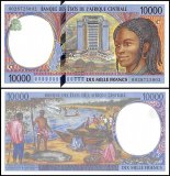 Central African States -Congo 10,000 Francs Banknote, 2000, P-105Cf, UNC