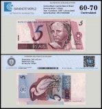 Brazil 5 Reais Banknote, ND 1997, P-244Ak, UNC, TAP Authenticated