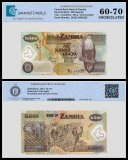 Zambia 500 Kwacha Banknote, 2011, P-43h, UNC, TAP 60 - 70 Authenticated