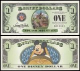 Disneyworld 1 Disney Dollar Banknote, 2014, R-171, UNC, D Series