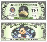 Disneyworld 10 Disney Dollars Banknote, 2014, R-173, UNC, D Series