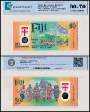 Fiji 50 Dollars Banknote, 2020, P-NEW, UNC, TAP 60 - 70 Authenticated