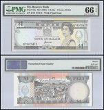 Fiji 1 Dollar, ND 1993, P-89a, Fijian Head, Queen Elizabeth II, PMG 66
