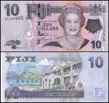 Fiji 10 Dollars Banknote, 2007, P-111a, UNC