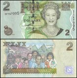 Fiji 2 Dollars Banknote, 2007, P-109a, UNC