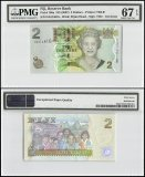 Fiji 2 Dollars, 2007, P-109a, Queen Elizabeth ll, Mohar Locket, Children, PMG 67