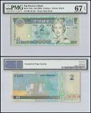 Fiji $2 Dollars, ND 2002, P-104a, Queen Elizabeth II, PMG 67