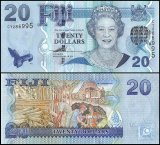 Fiji 20 Dollars Banknote, 2007, P-112a, UNC