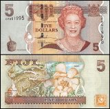 Fiji 5 Dollars Banknote, 2007, P-110a, UNC