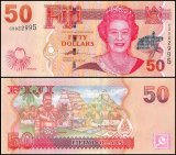 Fiji 50 Dollars Banknote, 2007, P-113a, UNC