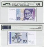 Germany Federal Republic  10 Deutsche Mark, 1993, P-38cr, Replacement/Star, PMG 66