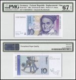 Germany Federal Republic 10 Deutsche Mark, 1993, P-38cr, Replacement, PMG 67