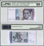 Germany Federal Republic 10 Deutsche Mark, 1993, P-38cr, Replacement, PMG 68