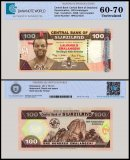 Swaziland 100 Emalangeni Banknote, 2008, P-34, UNC, TAP 60 - 70 Authenticated