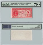 Hong Kong 10 Cents, 1961, P-327, Queen Elizabeth II, Government of Hong Kong, PMG 70