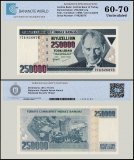 Turkey 250,000 Lira Banknote, 1998, P-211, Prefix-I, UNC, TAP 60 - 70 Authenticated