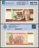 Turkey 100,000 Lira Banknote, 1997, P-206a, Prefix-I, UNC, TAP 60 - 70 Authenticated