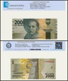Indonesia 2,000 Rupiah Banknote, 2016, P-155, UNC, TAP Authenticated
