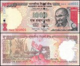 India 1,000 Rupees Banknote, 2015, P-107a, UNC