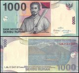Indonesia 1,000 Rupiah Banknote, 2000 - 2016, P-141a, UNC