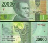 Indonesia 20,000 Rupiah Banknote,, 2016, P-155a, UNC