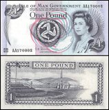 Isle of Man 1 Pound Banknote, 1983, P-40c, UNC